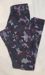 Nike purple leg-a-see camo printed leggings, S